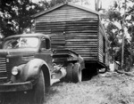 Photo - Andy Mergard  shifting Jack Neil's house c.1956; 1956-1956; P-641-0
