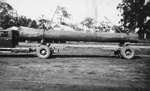 Photo - Andrew Mergard's truck loaded with a long log c.1948; 1948-1948; P-645-0