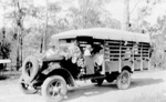 Photo - Bus carrying produce and shoppers c.1931; 1931-1931; P-1206-0