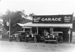 Photo - George Adams's Garage in Cook Street. c.1928.; 1928-1928; P-999-0