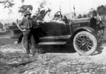 Photo - Edward James Robinson with his Model T Ford c. 1930.; 1930-1930; P-1112-0