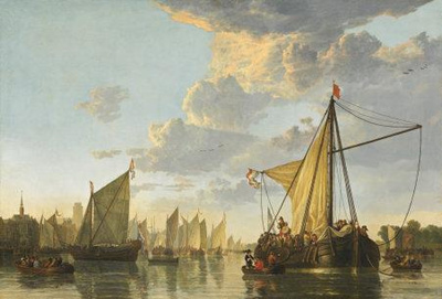 THE MAAS AT DORDRECHT BY CUYP, AELBERT (1620 TO 1691); Cuyp, Aelbert (1620 to 1691); Circa 1650