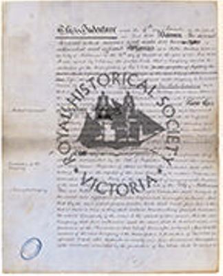Draft Deed of Settlement, 4 November 1850 establishing the City of Melbourne Gas and Coke Company