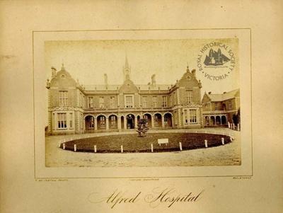 Alfred Hospital, Prahran, c. 1878