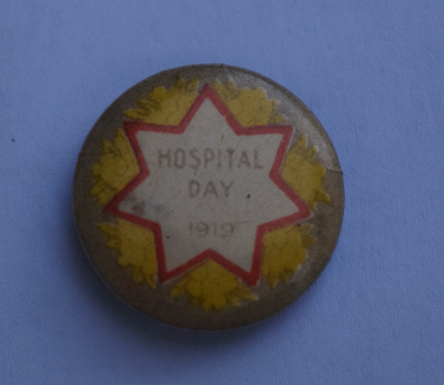 'Hospital Day'1919 Badge; 1919; 4