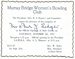 Murray Bridge Women's Bowling Club Invitation 1957; 1957; MB/IVT 00042