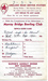 Murray Bridge Bowling Club Score Card, 3 Nov 1962.; Unknown; 1962; MB/SCO 00038