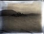 Gas-engine boat on water near an island; Aitken, John; 2017.1.059