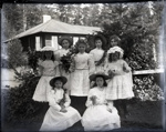 Eight women in hats and fine dresses; Aitken, John; 2017.1.066