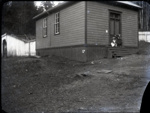 Schoolhouse on Mayne with two children on steps; Aitken, John; 2017.1.15