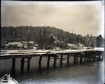 Photograph - Miners Bay dock showing boat masts - looking easts; Aitken, John; 2017.1.246