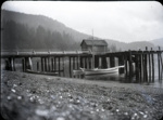 Photograph - Miners Bay dock from the beach looking towards Hall Hill.; Aitken, John; 2017.1.268