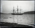 Photograph - Egeria, a 3 masted sailing steamer in Miner's Bay ; hygraphic survey boat.  ; Aitken, John; 2017.1.275
