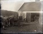 Steam threshing machine at one of the Deacon farms; Aitken, John; 2017.1.035
