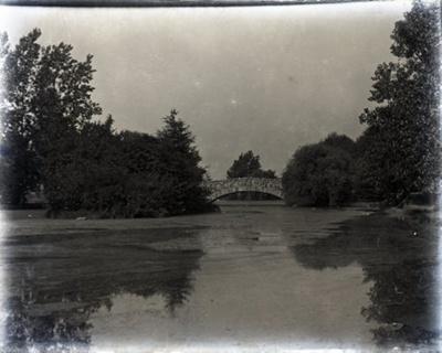 Beacon Hill Park with stone bridge; 2017.1.094