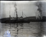 Photograph - Konamaru on rocks with two tugs - can see name of tugs.; Aitken, John; 2017.1.260