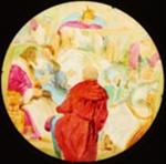 Lantern Slide - The Holy War, Man Being Sent to the Camp of Emmanuel, 1850-1910; 1850-1910; MV.MM.112726