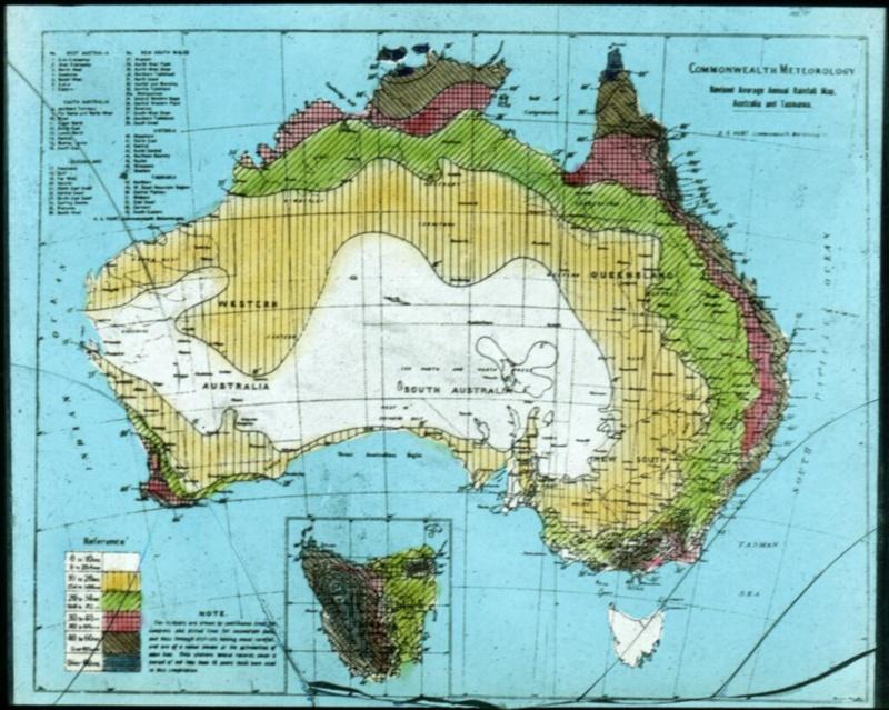 Map Of Australia And Tasmania.Revised Average Annual Rainfall Map Australia And Tasmania H A