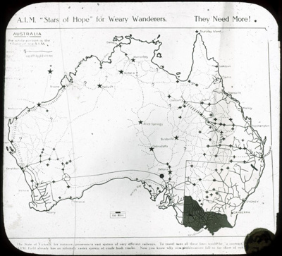 "A.I.M. ""Stars of Hope"" for weary wanderers - they need more!; Australian Inland Mission; 1920-1929; HL.NL.16942253"