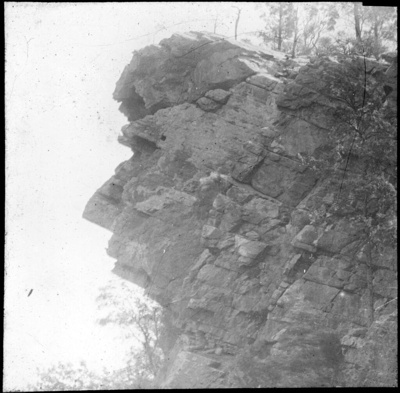 """Guardian of the Gap"", Moolooloo, South Australia [1] lantern slide used by Rev. F.H. Paterson, north South Australia / [John Flynn?]; Flynn, John, 1880-1951; 1905-1920; HL.NL.16830158"