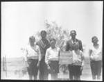 """The Wallabies"", scouts, Waukaringa near Cawthorn?, South Australia, 1933 : lantern slide used by Rev. F.H. Paterson, north South Australia / [John Flynn?]; Flynn, John, 1880-1951; 1933; HL.NL.17045316"