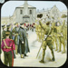 Lantern Slide - Soldiers Celebrating, 1885-1920; 1885-1920; MV.MM.111642