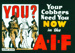 Glass Advertising Slide - 'Your Cobbers Need You Now in the AIF', World War II, 1939-1945; Gunn's Slides; 1939-1945; MV.MM.36836