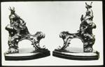 Lantern Slide - Figurative Bronze Fire Dogs, Neoclassical, 1909-1930; 1909-1930; MV.MM.111661