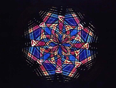 Lantern Slide - Rackwork Type, Chromatrope Pattern, post 1845; 1845 or later; MV.MM.40393