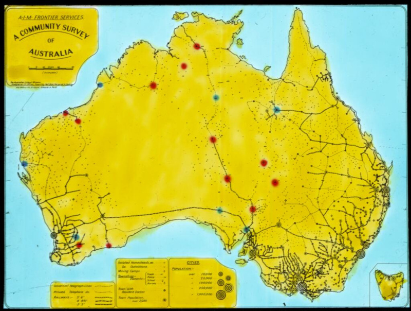 Australia Map Location.A Community Survey Of Australia Map With Coloured Dots Indicating