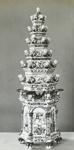 Lantern Slide - 'Delft Pagoda', Victoria & Albert Museum, London, 1909-1930; 1909-1930; MV.MM.111690