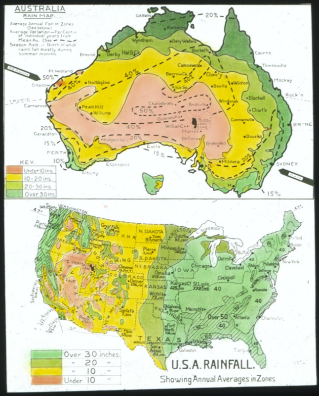 australia rain map usa rainfall 1930 1939 hlnl17102156
