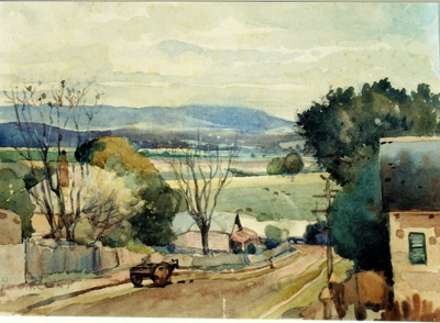 Untitled (Fitzgerald Street, Windsor, NSW.); Alfred T. Clint 1879-1936; 1920s; F49