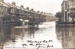 Postcard, unlabelled, showing Ilford with the River Roding in flood; ARN0076