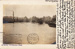 Postcard, unlabelled, showing Ilford in 1903 with the River Roding in flood; ARN0073
