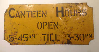 2017.21 Canteen Sign Front