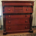 Australian colonial cedar chest of drawers; c.1880; 300459