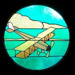 Aeroplane stained glass window