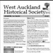 West Auckland Historical Society Newsletter 367; 2015-11 NL Nov-Dec