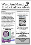 West Auckland Historical Society Newsletter 372; 2016-09 NL Sept-Oct