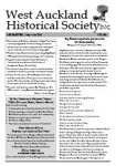 West Auckland Historical Society Newsletter 350; 2013-05 NL May-June