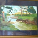 Henderson Mill site; framed painting with glass; ART-0112