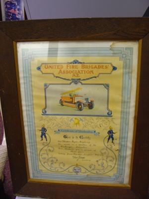 Certificate framed 1929; 2012.138