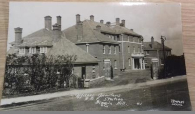 Original photographic postcard of the Officers Quarters at RAF Station Biggin  Hill; 2017.1.2
