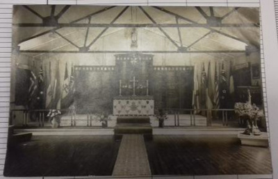 Photograph of the original RAF St Georges Memorial Chapel. ; 2017.19.5