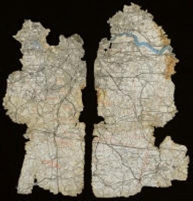 2 fragments of a pilots map; L003.4