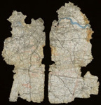 2 fragments of a pilots map; L003.4