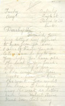 A letter to Harry Simpson from his mother, dated 'Tuesday, August'.; Simpson, Mrs; 2017.11.45