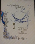21st birthday card sent to Harry Simpson from Rene; 02/1944; 2017.11.22