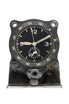 Cockpit clock from a Me109 German aircraft; L004.4